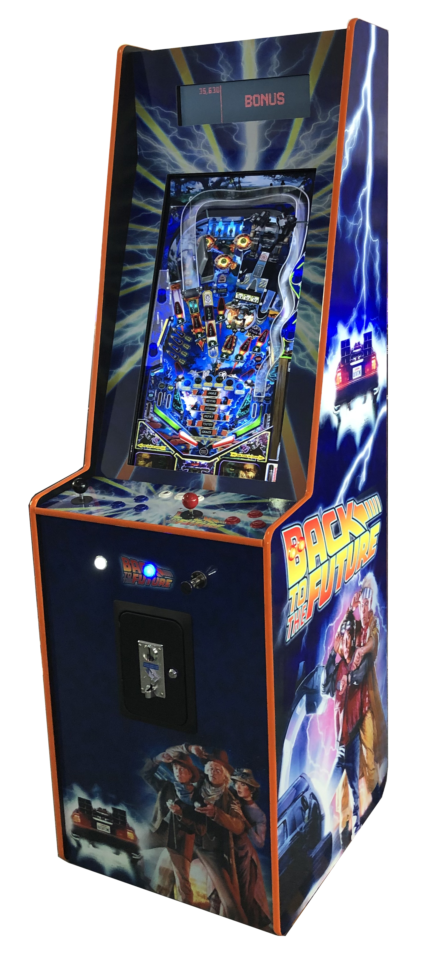 Back to the future Stand Up Pinball Arcade Adelaide