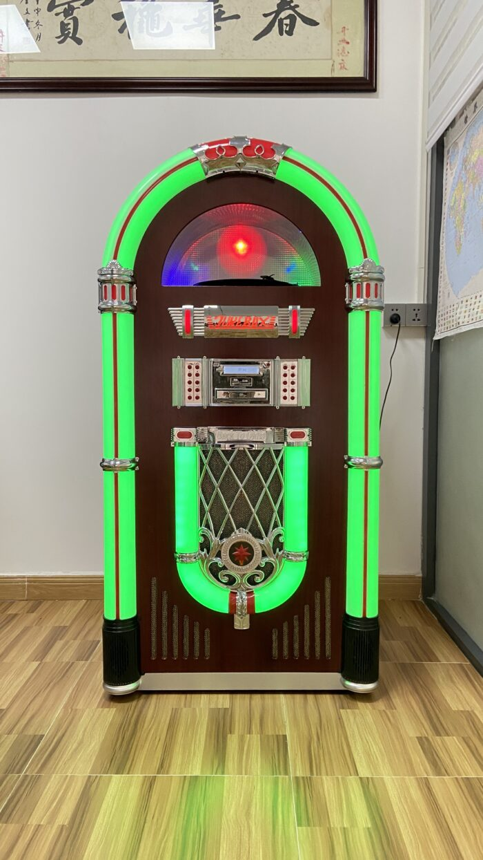 Full Size Classic 7-Color Changing LED Vinyl Jukebox NSW