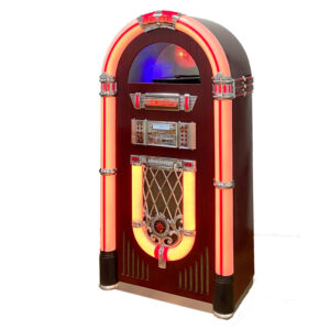 Full Size Vinyl CD Jukebox Classic 7-Color Changing LED